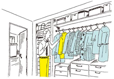 コーディネートが楽な、我が家の衣装部屋。